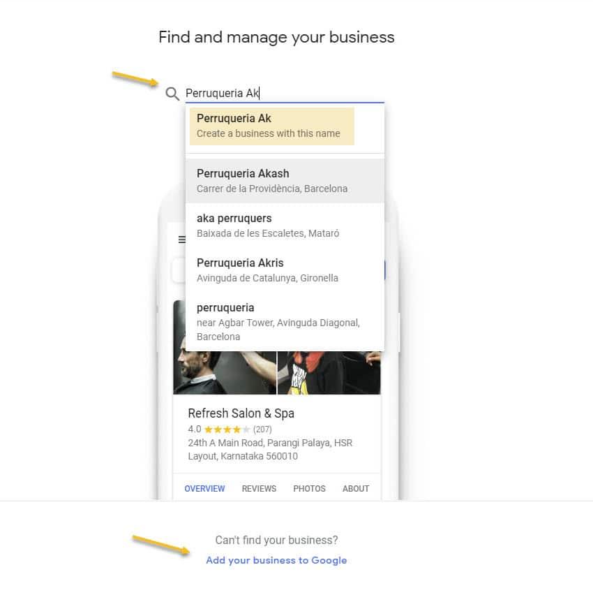 como poner negocio en mybusiness2